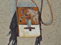 Hand made cross body hand bag by Rockin B's