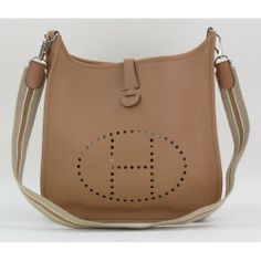 4be4cedc56c9 Hermès Gold Taurillon Clemence Leather Evelyne 1 PM Crossbody Bag-  2499   MoshPosh Fashion Bags