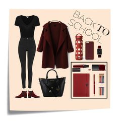 """Back To School"" by fleuramour on Polyvore featuring Post-It, James Perse, Topshop, Acne Studios, Undercover, S.T. Dupont, i am a, Laura Mercier, NARS Cosmetics and ID-INFINITE"