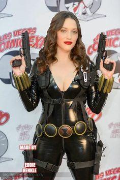 Sexy Kat Dennings as Black Widow