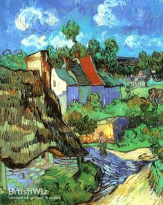 Houses In Auvers by Vincent Van Gogh - Oil Painting Reproduction - BrushWiz.com