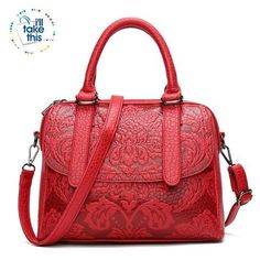 YQYDER Women Bag Embossed Floral Pattern Hand Bag Vintage Messenger Bag Ladies Designer Pu Shoulder Bag Casual Tote Sac a main Sierra Leone, Ghana, Luxury Handbags, Fashion Handbags, Fashion Bags, Women's Handbags, Vintage Handbags, Designer Handbags, Fashion Backpack