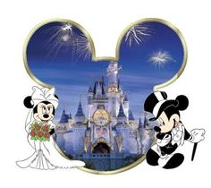 Disney wedding .... Mr. And Mrs. M. Mouse!