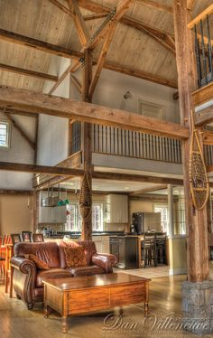"""Love that you can see the individual """"room"""" built upstairs, keeping the rest of the great room 2-stories"""