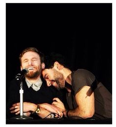 Dean O'Gorman and Aidan Turner. They are so cute. I love that they really are like brothers now