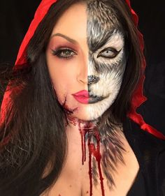 Little red ridding hood make-up