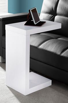 White Hollow Core Accent Table on @HauteLook