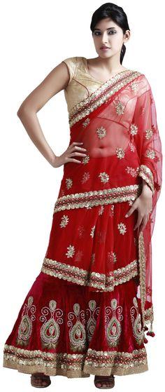 RED VELVET #STITCHED #SAREE  Product Code: AVJ0023SS  Price: $1525  BRAND - Varija