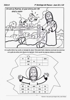 Descifra el mensaje que nos dice Jesús en el Día del Buen Pastor:                                        Fuente: http://elrincondelasmelli....