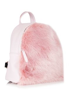 Skinnydip Charlie Pink Fur Mini Backpack