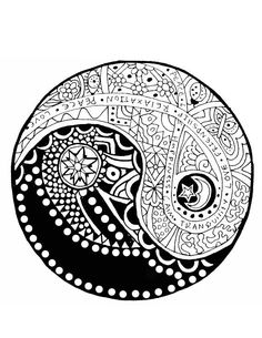 A Yin-yang #coloring page! In other news, I just saw the ...