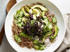 Salad of the Month: Chilled Noodles with Avocado and Cucumber