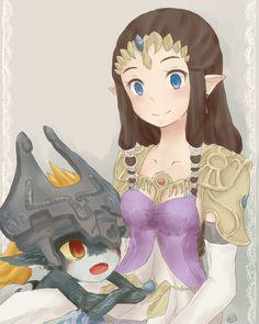 Midna & Zelda (cute fan artsyle!)