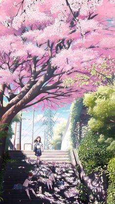 Anime Dreamy Girl Step Anime ArtCherry BlossomsArt … Source by tokiyuriko Iphone 6 Plus Wallpaper, View Wallpaper, Anime Scenery Wallpaper, Iphone Wallpapers, Retina Wallpaper, Wallpaper Downloads, 5 Anime, Anime Japan, Kawaii Anime