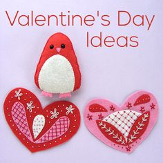 Lots of fun craft ideas for Valentine's Day.