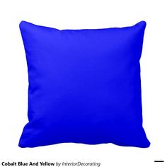 Cobalt Blue And Yellow Pillow