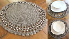 repujado aluminio decoupage servilleta volumen DIY Plastic Wrap Nail Art // Saran Wrap Manicure // OPI Goldeneye - Essie Where's my Chauffeur // Tutor Crochet Hood, Crochet Mat, Crochet Dollies, Love Crochet, Crochet Gifts, Free Crochet Doily Patterns, Crochet Placemats, Crochet Designs, Modern Placemats