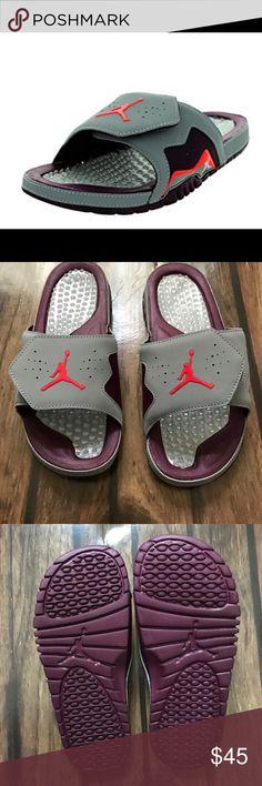 Nike Jordan Men's Jordan Hydro VII Retro Nike Jordan Men's Jordan Hydro VII Retro Wolf Grey/Infrared 23/Bordeaux, brand new size 9 Jordan Shoes Loafers & Slip-Ons