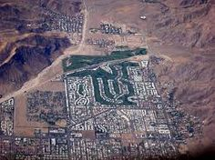 Aerial view of south west Palm Springs (facing south), with the Canyon Country - California, USA
