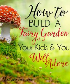 Today I want to show you how to create magical memories building a fairy house a. - - Today I want to show you how to create magical memories building a fairy house and fairy garden with your child! Fairy Garden Houses, Gnome Garden, Garden Fun, Fairies Garden, Balcony Gardening, Fairy Gardening, Potager Garden, Garden Table, Succulents Garden