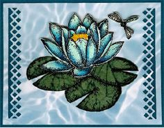 the Legend of the Water Lily, Stamped Paper Piecing Card Technique by M. Elizabeth Lee; Rubber Road Adventures E-Zine