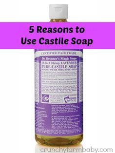 5 Reasons to Use Castile Soap. I use plain castille soap and add my own Young Living Oils. We use it for hand washing dish soap with Thieves Household cleaner, shampoo, hand soap and baby soap.