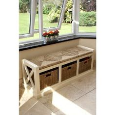 Tetbury Hallway Bench, White Hallway Storage Bench With Baskets And Cushion  | EBay | Benches | Pinterest | Hallway Storage Bench, White Hallway And  Hallway ...