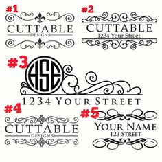 Mailbox Decals Mailbox Numbers Mailbox Address Decal Custom - Custom vinyl decals for mailbox