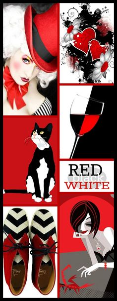'' Black & Red & White '' by Reyhan S.D.