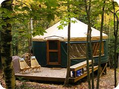 Stay in our beautiful Tyler Brook Yurt at Frost Mountain!