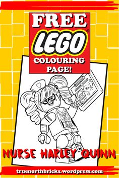 I've got some LEGO Batman related content coming this week, so let's kick it off with a colouring page from the upcoming movie! Click here to download your free Nurse Harley Quinn colou…