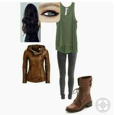 A fashion look from November 2014 featuring olive green shirt, stretchy jeans and leather ankle boots. Browse and shop related looks. Teresa Maze Runner, Runners Outfit, Teen Fashion, Fashion Outfits, Badass Outfit, Character Inspired Outfits, Cosplay Characters, Fandom Fashion, Fandom Outfits