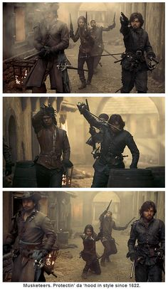 The Musketeers. Protectin' da 'hood in style since 1622...
