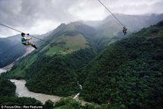 Zipline (preferably in the Amazon)