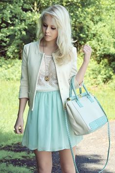 Mint & Lace. Plus inspiration to keep my hair blonde. I'm not far away from this length either! Yay.