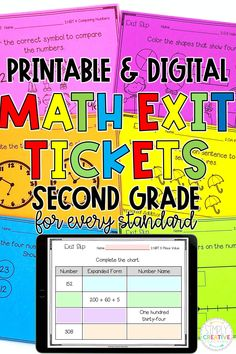 Check out these 2nd grade Printable and Digital Math Exit Tickets for every standard for formative assessment today! These Math Exit Tickets are a great way to quickly and easily assess your second grade students in-person or for distance learning. Aligned to Common Core standards and available on Google Classroom or Seesaw. Perfect for whole group, independent work, test prep and MORE! Covers every standard from addition