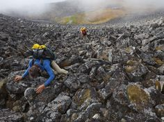 See a photo of ultrahiker Andrew Skurka climbing a boulder-strewn pass in Alaska by Michael Christopher Brown, from National Geographic.
