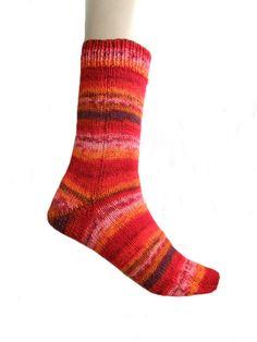 Sokken Fortissima rood maat 39 40 van Carolinevantveer op Etsy