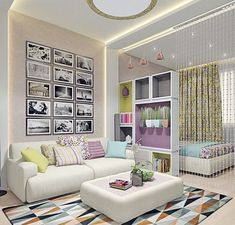 45 Ideas for living room ideas apartment layout small spaces Studio Apartment Design, Studio Apartment Decorating, Apartment Layout, Apartment Ideas, Condo Design, Condo Decorating, Bedroom Apartment, Living Room Designs, Living Room Decor