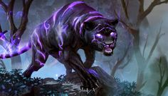 Mngwa (Fae)(Large) – Stalkers supreme, these intelligent fae beasts have the ability to dim away sound around them, turning them very effective against casters of spells, and also the perfect stalking/hunting machines. They can stalk a group of victims for hours and surprise them one by one as their victims can't scream for help as their voices are absorbed into the creatures aura. They take the appearance of black tigers/panthers. (African)