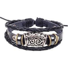 2017 New Charm Bangle Vintage Multilayer Keys Anchor Leather Beaded Cuff Bracelet Women Bracelets & bangles Cheap Charm Bracelets, Braided Bracelets, Bracelets For Men, Fashion Bracelets, Bangle Bracelets, Bracelet Men, Bangles, Leather Bracelets, Friendship Bracelets