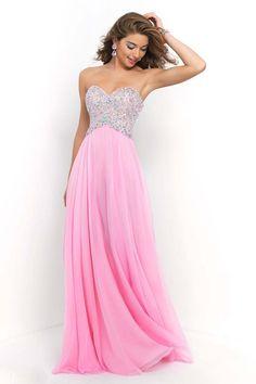 2015 Bubblegum Chiffon Long Evening Gown Dresses Blush Prom Dress 339960b40f34