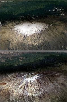Kilimanjaro glacier retreat