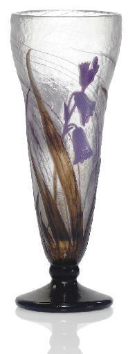 Daum Frères, Nancy, Acid Etched Glass Vase.