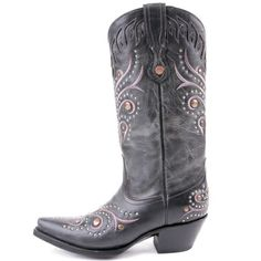 Cowgirl Clad Company - Corral Black Stud Cowgirl Boot G1012, $270.00 (http://www.cowgirlclad.com/corral-black-stud-cowgirl-boot-c1012/)
