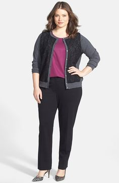 Vince Camuto Cardigan, Sejour Shell & Vince Camuto Trousers (Plus Size)  available at #Nordstrom
