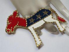 Donkey brooch vintage