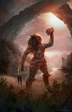 """""""Predator"""" by Martin Nebelong Alien Vs Predator, Predator Movie, Predator Alien, Arte Horror, Horror Art, Dark Fantasy, Fantasy Art, Les Aliens, Giger Art"""