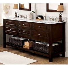 Expresso Wood double sink. Need in my bathrooms.
