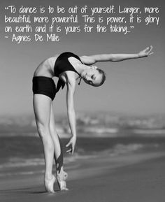 can be anything....♥ Wonderful! www.thewonderfulworldofdance.com #ballet #dance